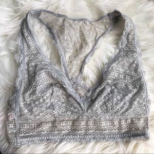 Victoria's Secret | Gray lace bralette bra new VS